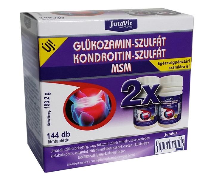 JUTAVIT Glьkozamin - Kondroitin szulfбt filmtabletta (72db)