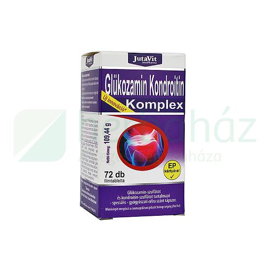 Jutavit Glükozamin Kondroitin Komplex Speciális Gyógyászati Célra Szánt tápszer 72 db