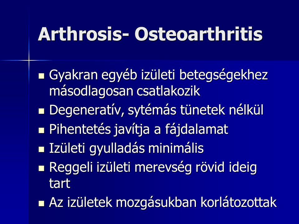 rheumatoid arthritis és arthrosis gyógyszerek kezelése új a köszvény és az ízületi gyulladás kezelésében
