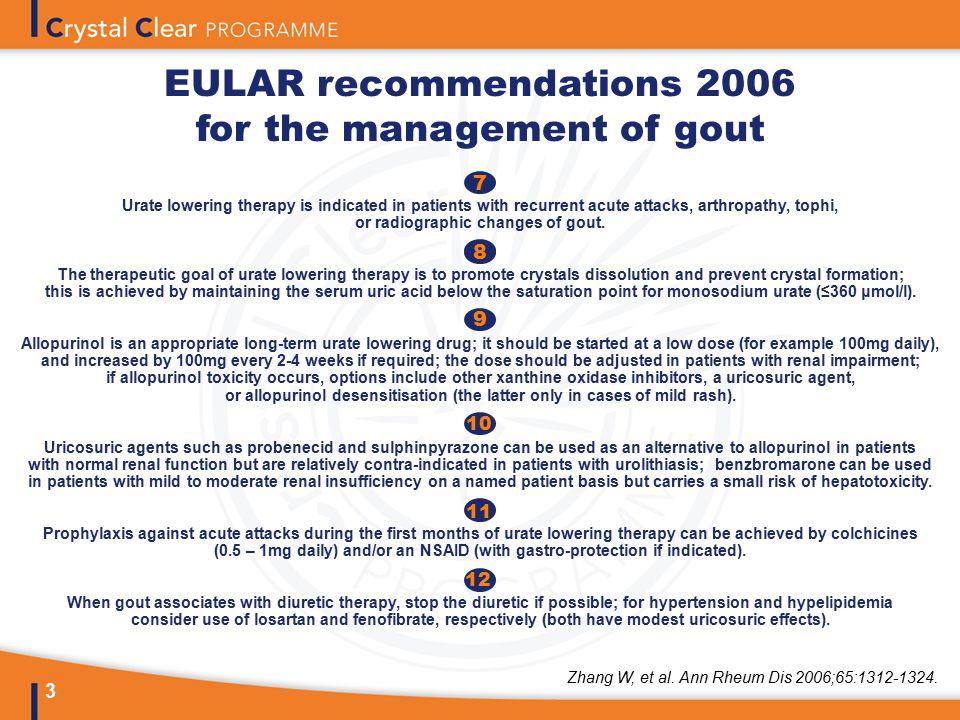 gout eular guidelines ízületi fájdalom és az ujjak duzzanata